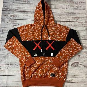 Kaws X Nike Air Jordan Hoodie Orange/Black